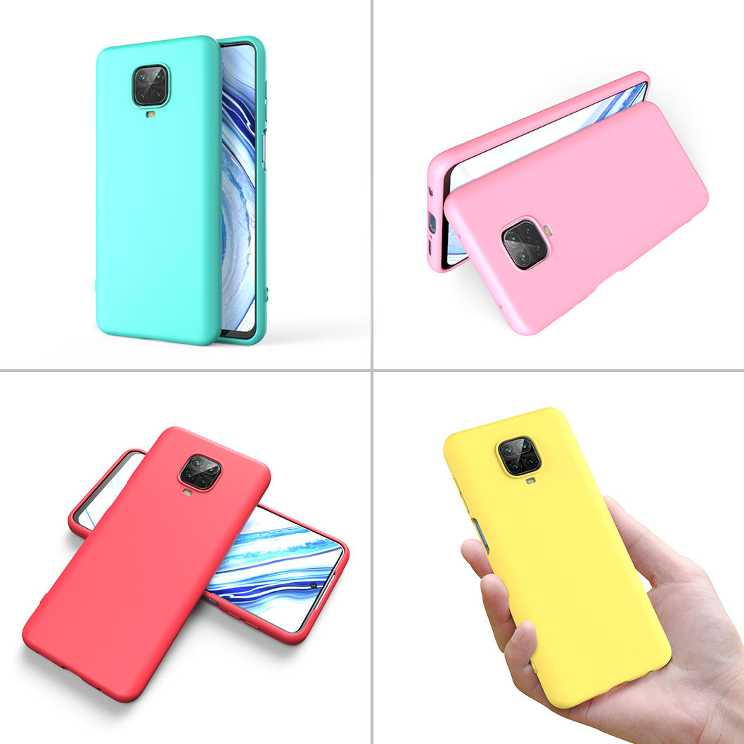 2020 Amazon New TPU Soft Matte Silicone Candy Transparent Phone Case For Xiaomi Redmi Note 9s