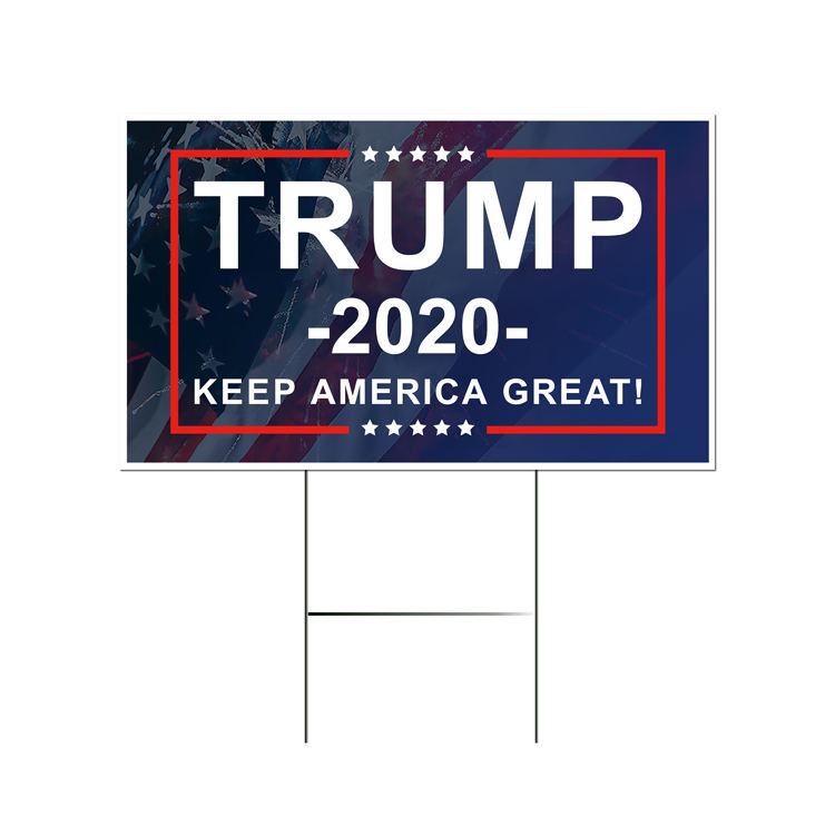 2020 Trump Supporter Election Sign Vote For America President Voting