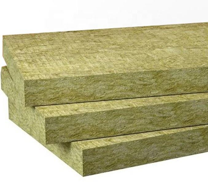 High quality rock wool 50mm thickness soundproof thermal insulation rock wool panel board for building fireproof