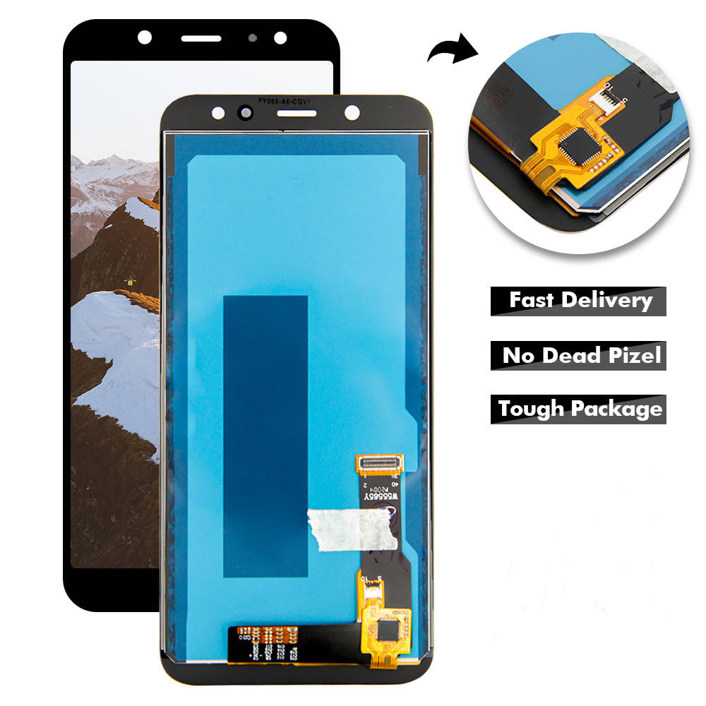 "RTS 5.6"" mobile phone display for Samsung Galaxy A6 2018 A600 A600F A600FN lcd and touch screen replacement TFT good quality"
