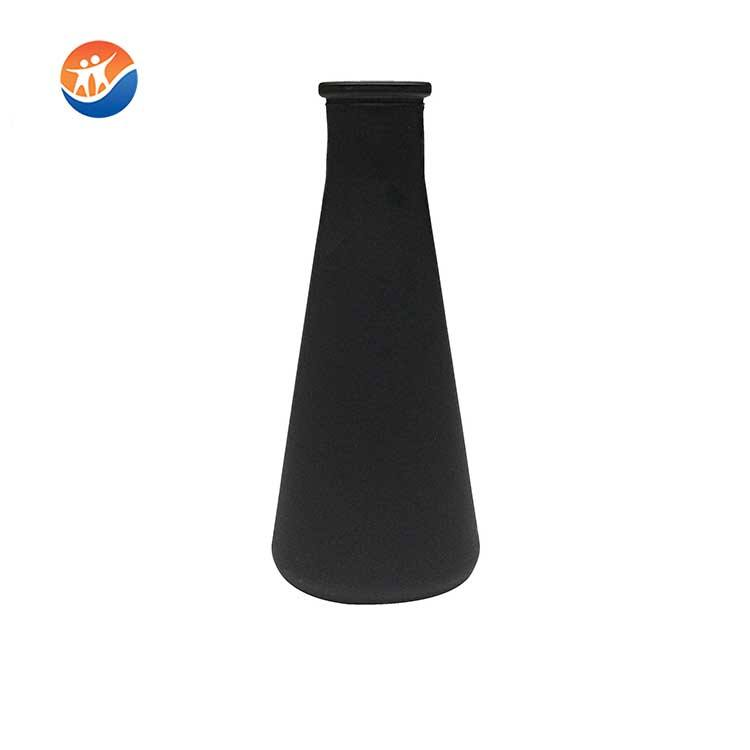new design eco-friendly colored Reagent bottle glass flower vase for decoration