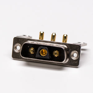 Right Angle Combo Power D-Sub 3V3 Male PCB Mixed Plug Connector