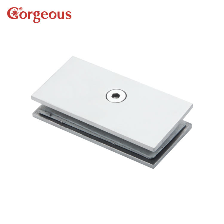100mm long square glass clamp shower hinge for bathroom