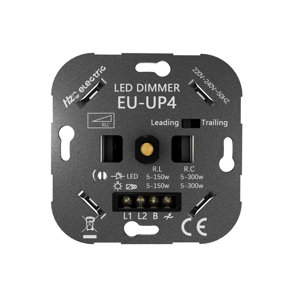 EU-UP4 240V AC Manual Switch Leading Edge/Trailing Edge Universal LED Dimmer