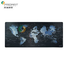 Natural Rubber Desk mat Printing World Map Mouse Pad