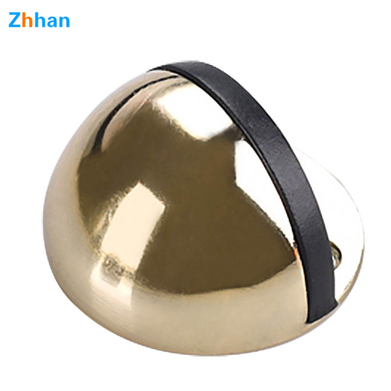 High Quality Floor Install Or Top Install Kitchen Cabinet Stainless Steel Rubber Door Stops