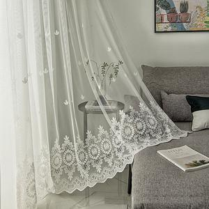 Lace fabric embroidery outdoor curtains