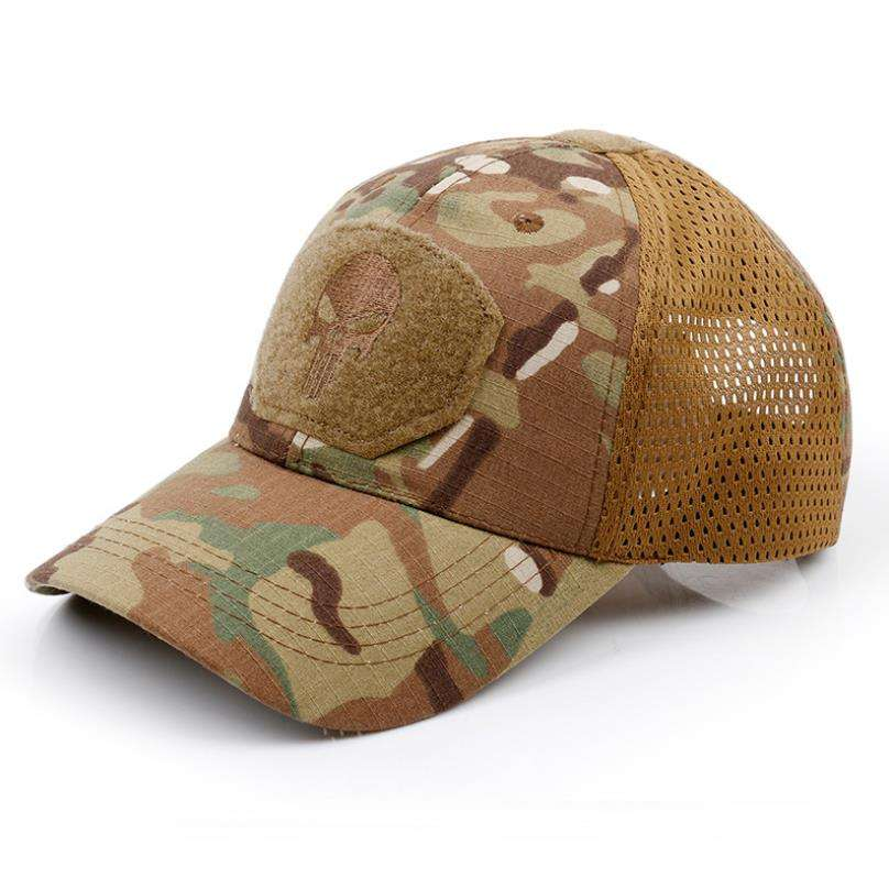 Skull Multicam Camouflage Operator Cap Men Fitted Tactical Cap Special Force Sniper SWAT Hat trucker