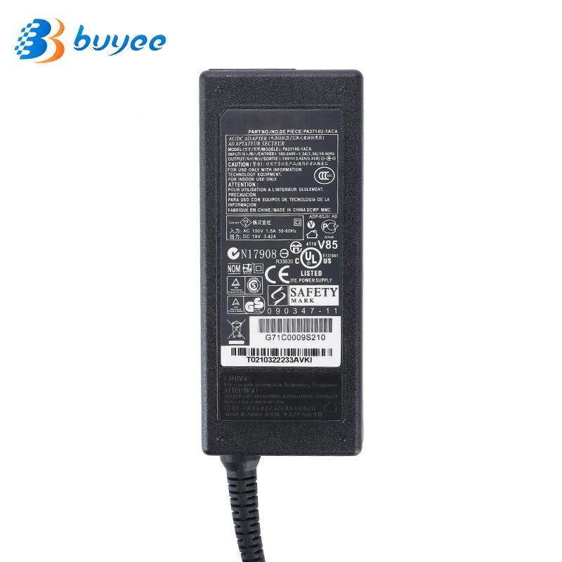 Laptop AC Charger Adapter Para <span class=keywords><strong>TOSHIBA</strong></span> 19V 3.42A <span class=keywords><strong>PA3714U</strong></span>-1ACA SATELLITE C655D L300 L450 L500 1000 adaptadores de energia do Notebook