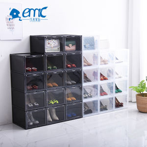 Wholesale stackable storage box clear plastic shoe container