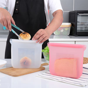 Bober new silicone zipper bag, hot on Youtube sandwich fruit silicone bags for school kids