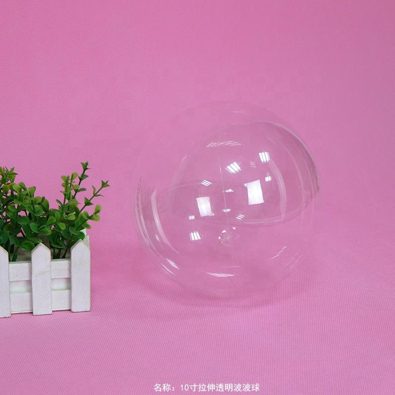 Hot Selling 10 18 24 36 Inch Stretchable Transparent Clear Round Bobo Plastic Bubble Balloon For Party Decor