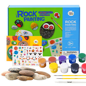 Non-Toxic magic stone children kids toys arts and crafts rock painting kit for kids