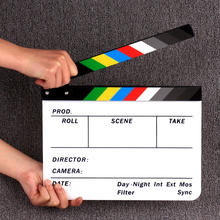 Durable Factory Acrylic Clapboard 30*24.5cm Dry Erase Director Film Movie Clapper Board Slate Video Director Clapper for film