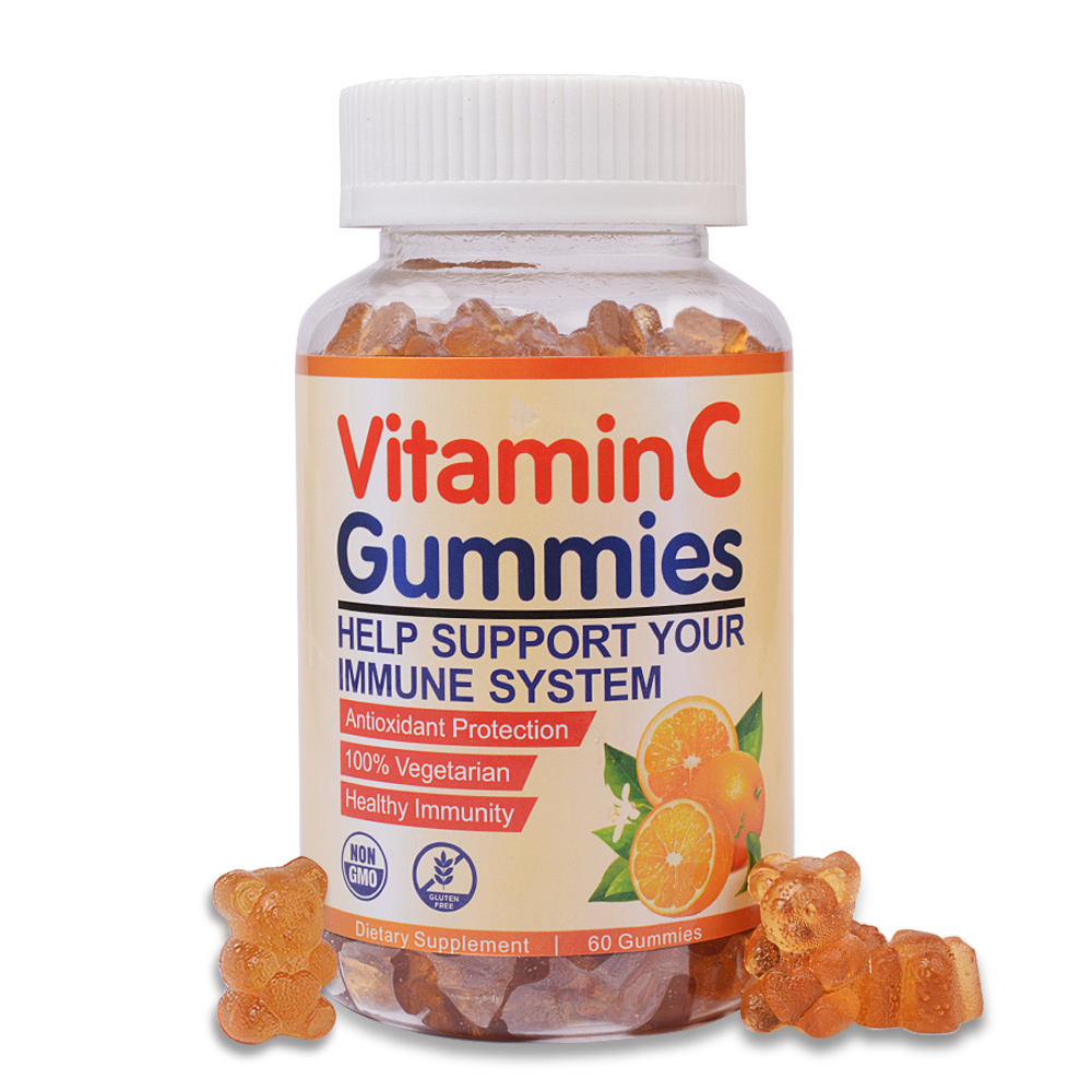 Private Label Hot Sale Health Supplement Immune Support liposomal Vitamin C Gummies Bear Candy