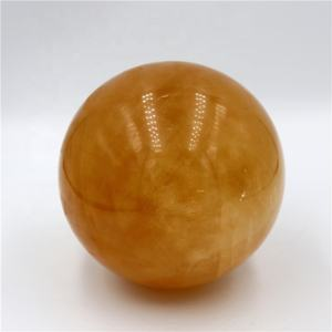 New year gifts natural rock polished citrine crystal ball sphere 100mm for Christmas ornaments