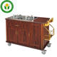 Restaurant equipment wooden hotel cooking service trolley flambe cart