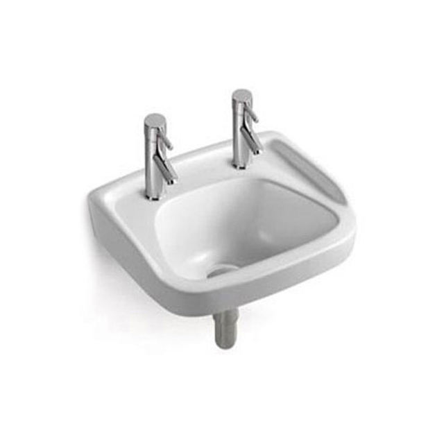Small Corner Square Shape Bathroom Ceramic Wall Hung Wash Basin Price
