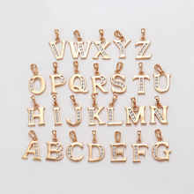 32339 Xuping SET 18k gold alphabet pendant charms, custom diamond letter pendant jewelry