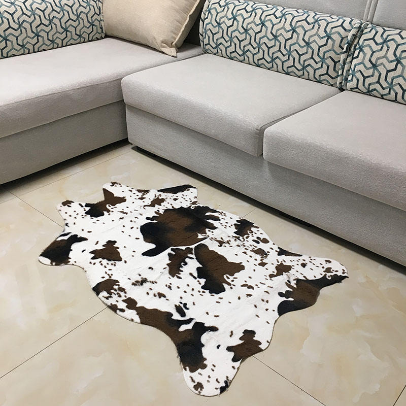 Area cowhide rug microfiber faux fur Acrylic carpet cow print rug carpet