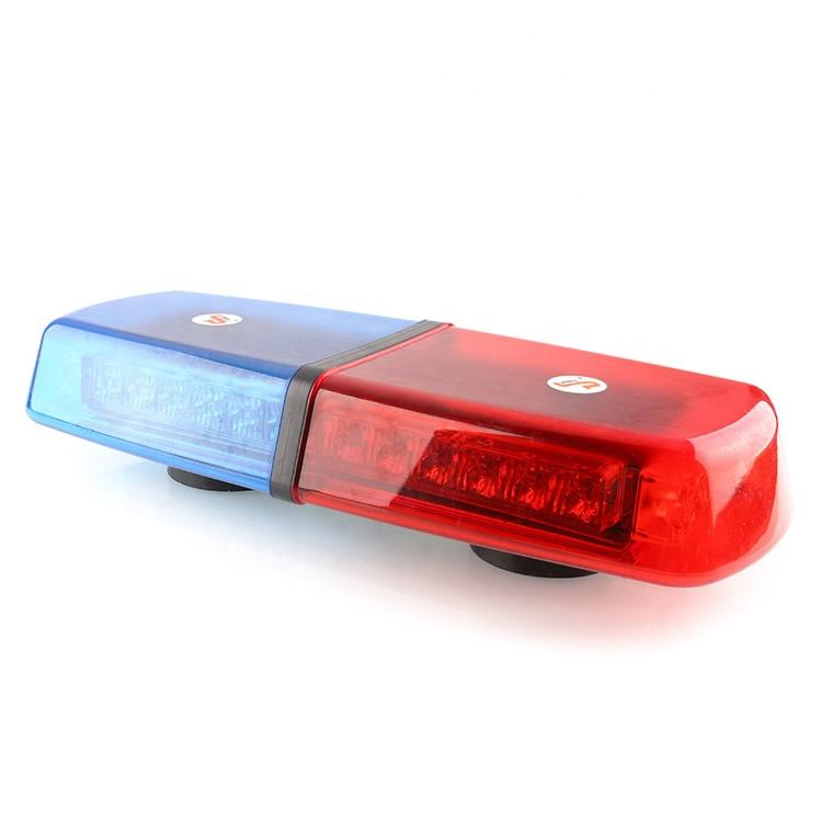 Fabriek Prijs Politie Knipperende High Power Led Rood Blauw Cover Magnetische Led Min Lichtbalk