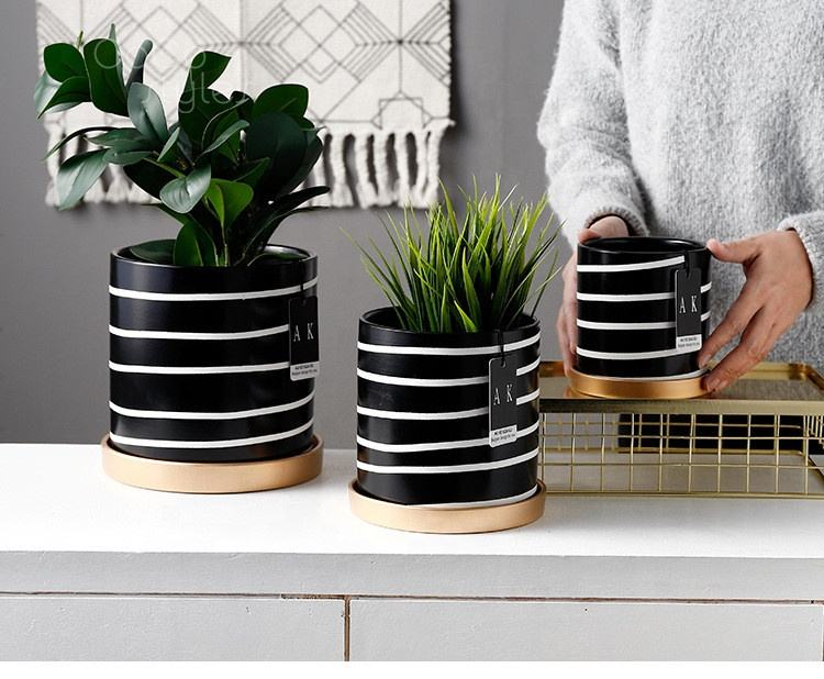 Cocostyles personalized handmade Europe style cement flower pot for living room green plant home decor 2019