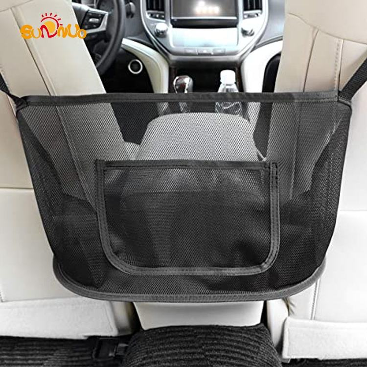 Car Organizer and Storage Back Seat Net Pocket Purse Holder for Car Accessories Women Handbag (Middle)