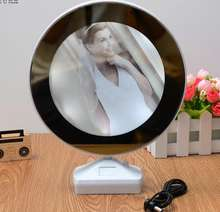 Home Decoration Wholesaler LED Photo Frame Creative Magic Mirror Picture Photo Frame with Light
