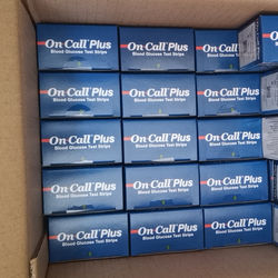English packaging On call plus Blood glucose strip 1 box including  50 pieces