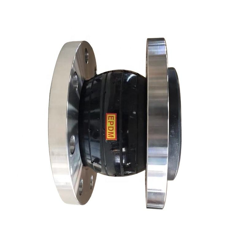 Corrosion resistant single sphere ss304 flange connector flexible joint rubber expansion bellows