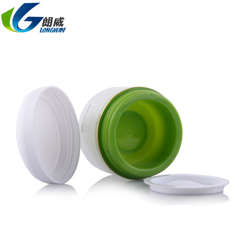 Skin care 3g custom color plastic container cosmetics cream glass jar