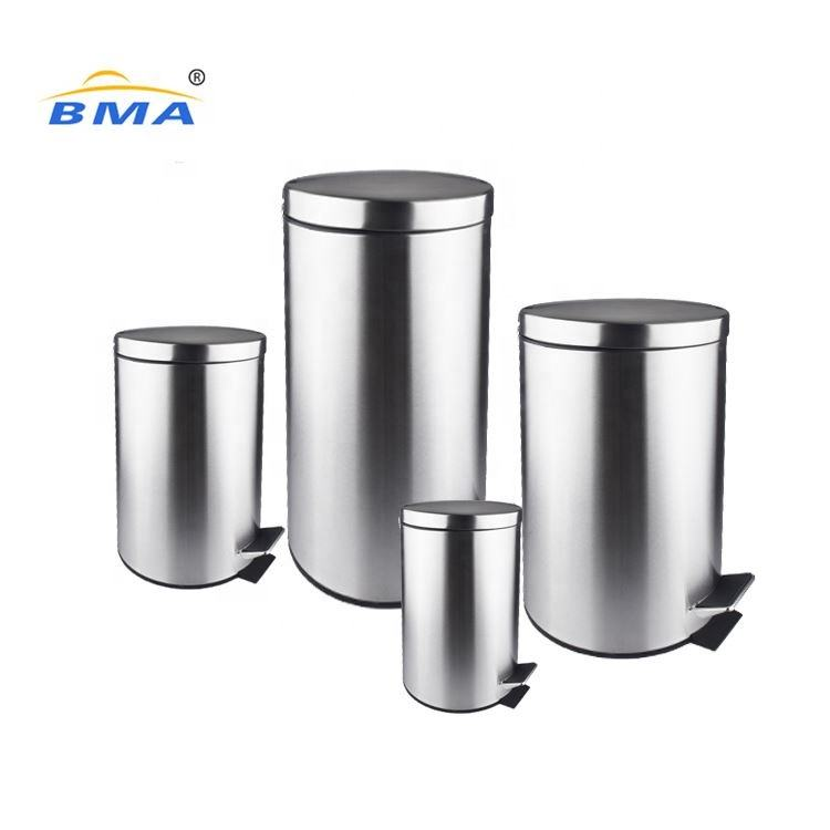 Bathroom Household Cleaning Tools Accessory Stainless Steel Foot Pedal Trash Can Waste Bins 3L