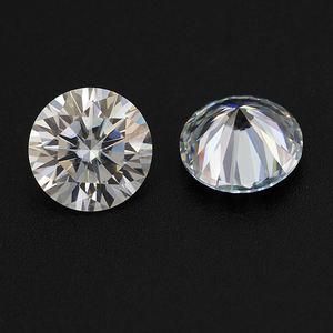 Wholesale loose moissanite rough stone round D color vvvvs1 8mm 2 carat white moissanite ring synthetic diamond price per carat