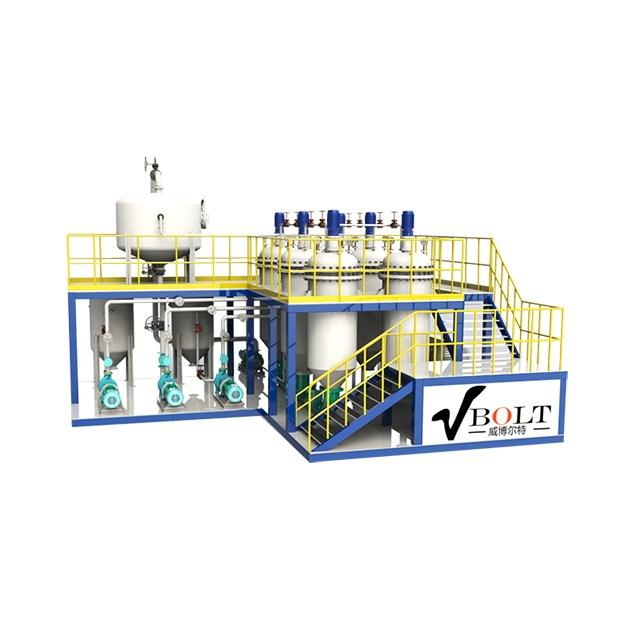 Used Engine Oil Rubber Pyrolysis Oil Purification Distillation Plant With Filtering System