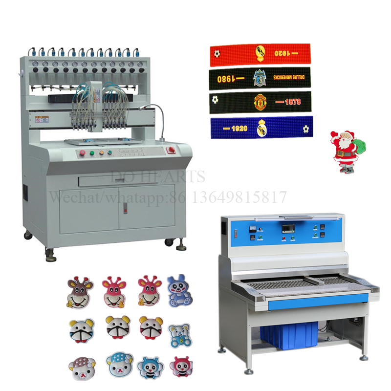 Easy and simple handle soft pvc rubber patch automatic dripping machine with CE certificate