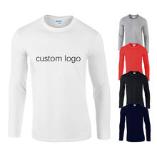Custom print oem homme basic plain blank pink white simple unisex ladies men's women full arm hand long sleeve t shirt for men