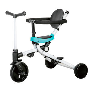 Functional push 3 wheels folding cheap bike 1-6 years plastic kids tricycle