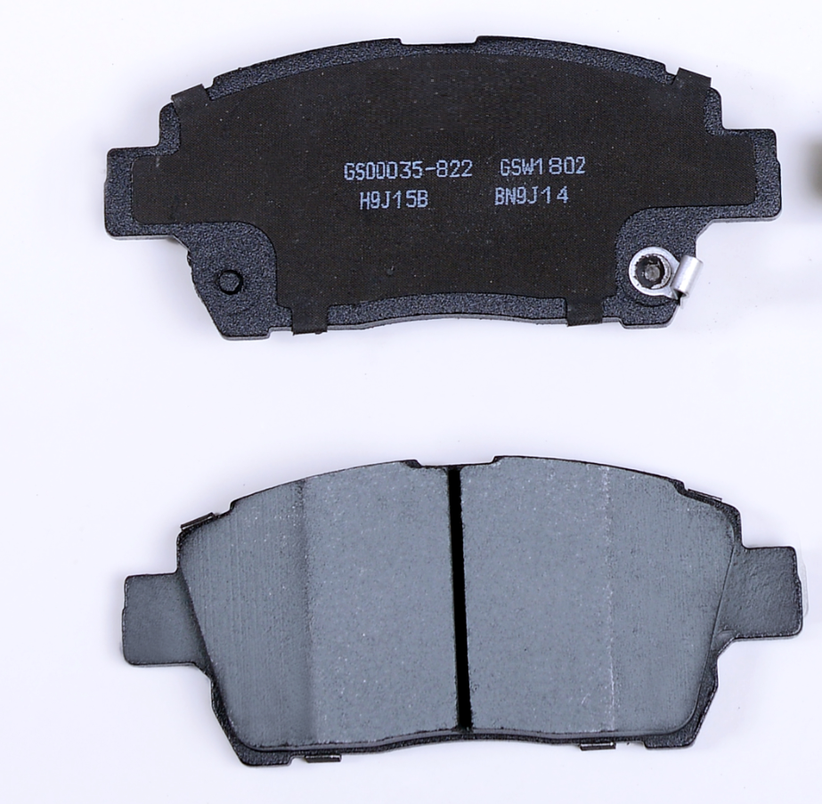 Negligible dust brake pad D822 FOR TOYOTA ASCENT COROLLA ECHO PRIUS LIFAN WILL YARIS GREAT WALL FLORID HOVER BYD GLEAGLE