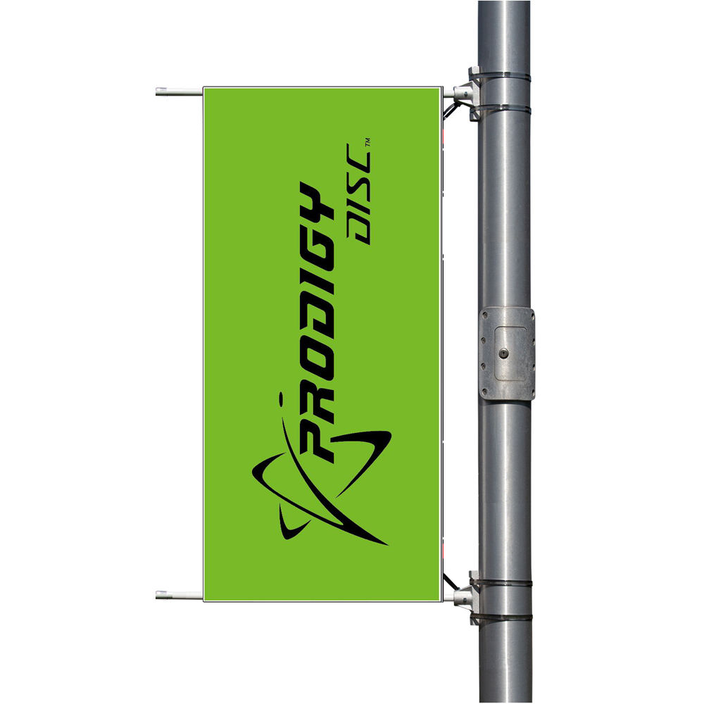 New advertising outdoor road lamp light pole hang rectangle flag banner for street