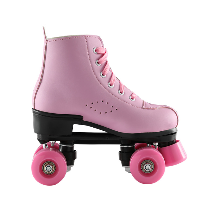 Customized Outdoor Fashion Hot Pink Flashing Roller Skate, Pink Soy Luna Roller Inline Skates Ambar Wheels