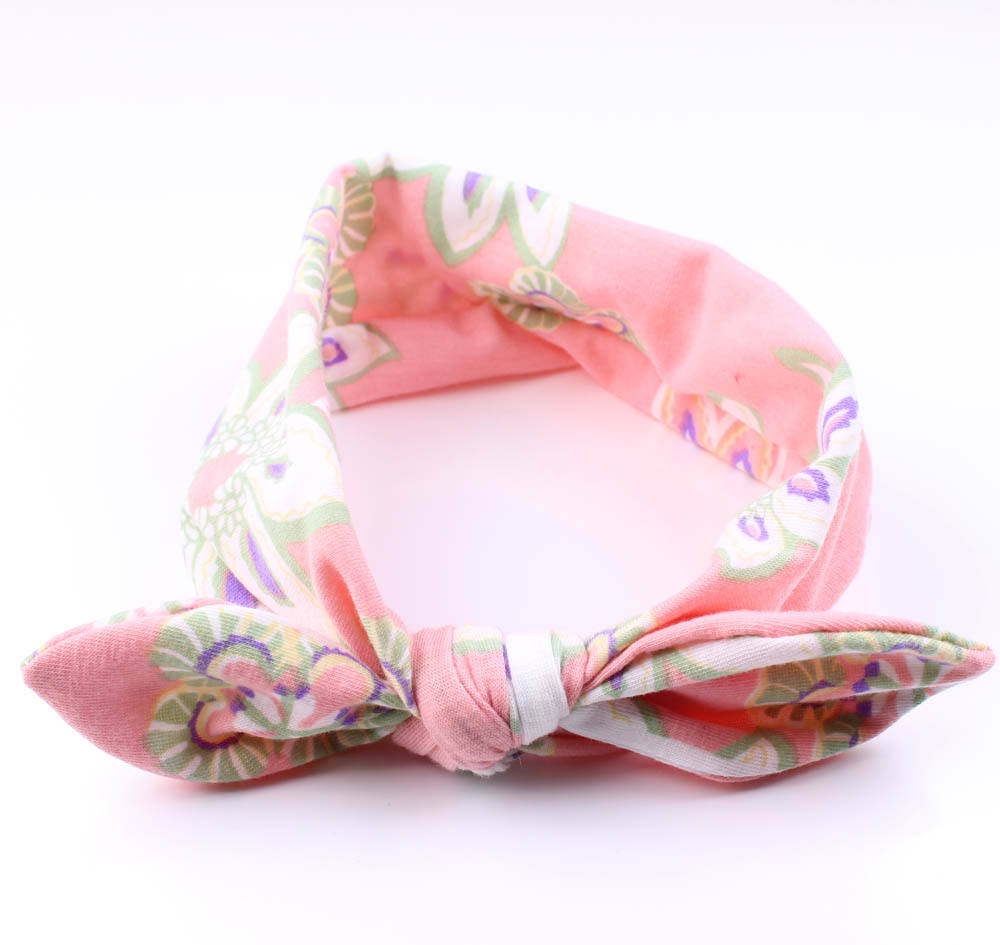 Summer hot sale hair accessories girls baby kids elastic ribbon bows headband