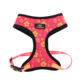 Fashion personalized designer reversible harness soft mesh padded luxury adjustable reversible no pull custom pet dog harness