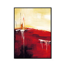 Large Simple Design Acrylic Wall Decoration Handmade Abstract Oil Painting