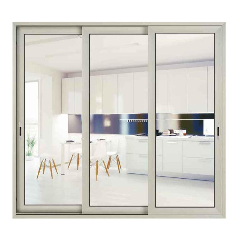 China customized double glazing aluminium frame sliding glass patio door