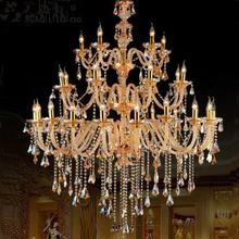Manufacturer project 3 layer large crystal pendant lamp crystal chandelier