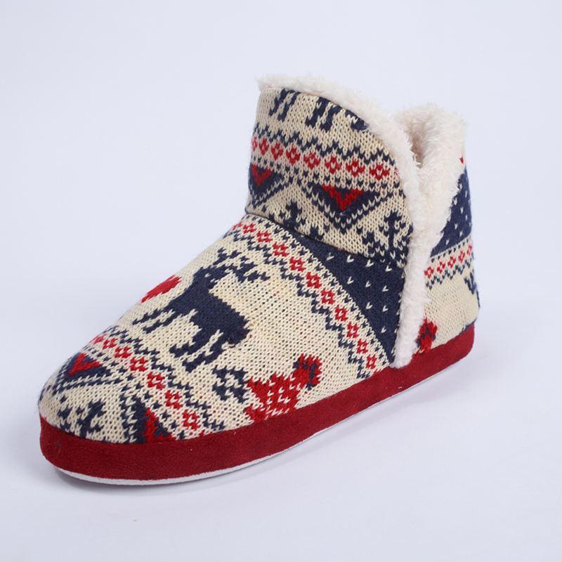 comfortable snow woman new design ladies sleeper winter home oem slippers boots