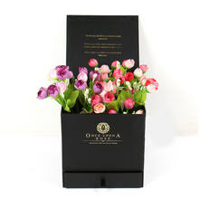 lovely design decorative rose cardboard flower boxes packaging box for flowers