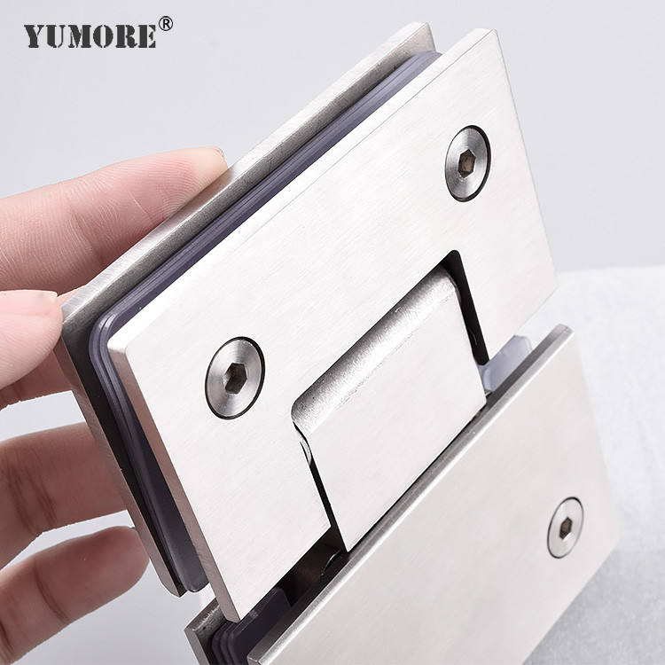 Hardware manufacturer heavy duty frameless stainless steel framed concealed pivot glass shower door hinge