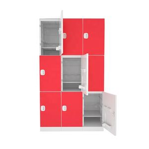 Factory direct supply ABS plastic locker easy to clean storage cabinets with doors