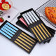 5pairs black/pink/blue/red&gold/silver stainless steel korean chopstick set gift box and customized logo